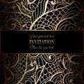 Abstract background with antique, luxury black and gold vintage frame, victorian banner Royalty Free Stock Photo