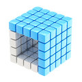 Abstract background as cube structure Stock Photo