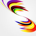 Abstract background with bent lines vector Royalty Free Stock Photos