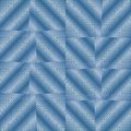 Abstract background with blue checker patterns in metallic design, 3d optical art illusion Royalty Free Stock Photo