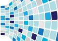 Abstract Background - Blue Cubes Royalty Free Stock Images