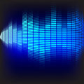 Abstract Background  - Blue Equalizer Royalty Free Stock Photo