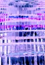 Abstract background with blue glass blocks Royalty Free Stock Photo
