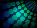 Abstract background - blue and green circles pattern with black grunge Royalty Free Stock Photo