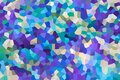 Abstract background in blue shades consisting of a variety of polygons Royalty Free Stock Photo