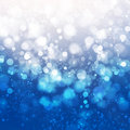 Abstract background blue shine with bokeh Stock Photos