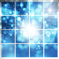 Abstract background blue shine with bokeh Stock Photography
