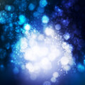 Abstract background blue shine with bokeh Royalty Free Stock Photography