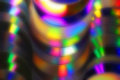 Abstract background of blurred colorful spectra on cd and dvd di Royalty Free Stock Photo