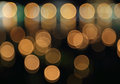 Abstract background of blurred warm lights with bokeh effect Royalty Free Stock Images