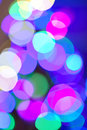 Abstract background with bokeh blue purple beautiful crowded Royalty Free Stock Photos