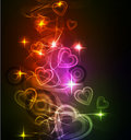Abstract background with bright beautiful heart Royalty Free Stock Images