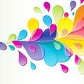 Abstract background with bright drop. Royalty Free Stock Image