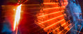 Abstract background with bright orange rays and smoke Royalty Free Stock Photo