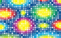 Abstract background with bright squares colorful disco symmetrical and lights Royalty Free Stock Photo