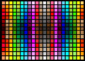 Abstract background with bright squares colorful symmetrical Royalty Free Stock Photography