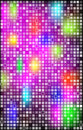Abstract background with bright squares