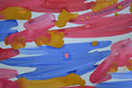 Abstract background brush strips blue pink yellow and drops Royalty Free Stock Photo