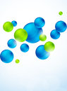 Abstract background with bubbles bright illustration Stock Photo