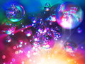 Abstract background from bubbles on water bright saturated Royalty Free Stock Photo