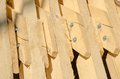 Abstract background with building lumber stack of at construction site ready for montage Stock Photos