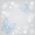 Abstract background with butterflies and flowers Stock Image