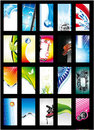 Abstract Background Card Collection - Set 1 Stock Image