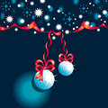 Abstract background with Christmas toys Stock Photography