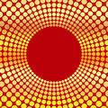 Abstract background of circles circumference gold color on a red Stock Images