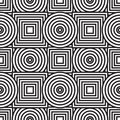 Abstract background with circles and squares Stock Image