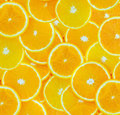 Abstract background with citrus fruit of orange slices Stock Photography