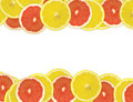 Abstract background of citrus slices Stock Photography