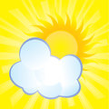 Abstract background cloud hides the sun fluffy covers Stock Photography