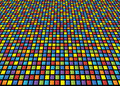 Abstract background of colored squares arranged in a matrix with distortion Stock Photography