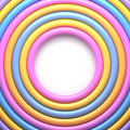 Abstract background with colorful glossy rings Royalty Free Stock Photo