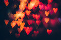 Abstract background of colorful hearts in motion Royalty Free Stock Photo