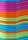 Abstract background of colorful plastic baskets Royalty Free Stock Photo