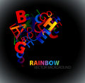 Abstract background with colorful rainbow letters Royalty Free Stock Photo