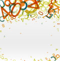 Abstract background with colorful rainbow numbers Stock Images