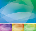 Abstract background a colorful set with wavy lines and curves Stock Photos