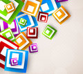 Abstract background with colorful squares Royalty Free Stock Images