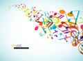 Abstract background with colorful tunes vector art Stock Photos