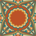 Abstract background colorful vector patterned arabesque ornament Royalty Free Stock Images