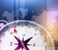 Abstract background with compass and world map Royalty Free Stock Photo