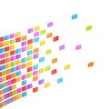 Abstract background composition made of multiple colorful glossy tiles over the white Royalty Free Stock Images