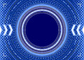 Abstract background - concentric circles, halftone and arrows in