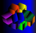 Abstract background with cubes colorful Royalty Free Stock Images
