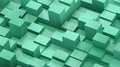 Abstract background of cubes and parallelepipeds in green colors Royalty Free Stock Photo