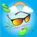 Abstract background cute glasses of summer holiday ,vector illustrations