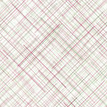 Abstract background diagonal random lines pale colors seamless pattern white plaid fabric texture delicate checkered endless Stock Image